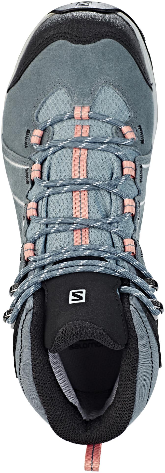 Salomon W's Ellipse 2 Mid LTR GTX Shoes Lead/Stormy Weather/Coral Weather/Coral Weather/Coral Almond 833572